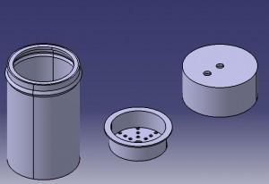 vapour filter bottom, vapour filter top, vapour filter ice holder